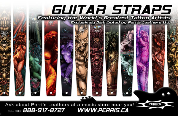 Custom guitar straps by David Bollt
