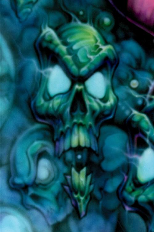 pigtails skull