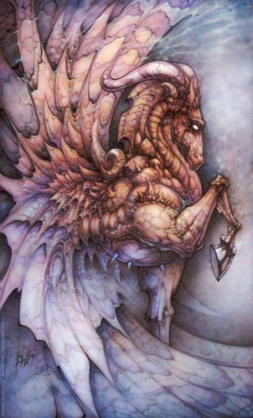 Steadfast fantasy horse by David Bollt