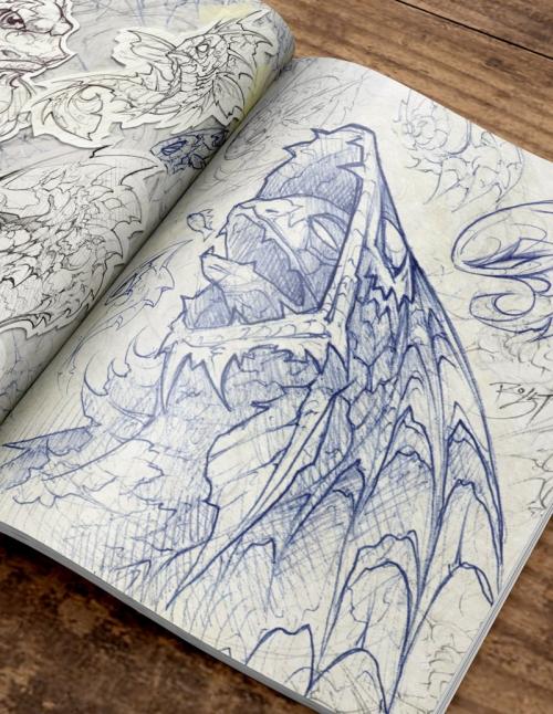 David Bollt fish sketchbook drawing