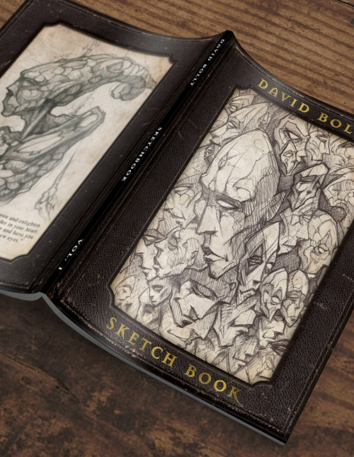 David Bollt sketchbook cover art