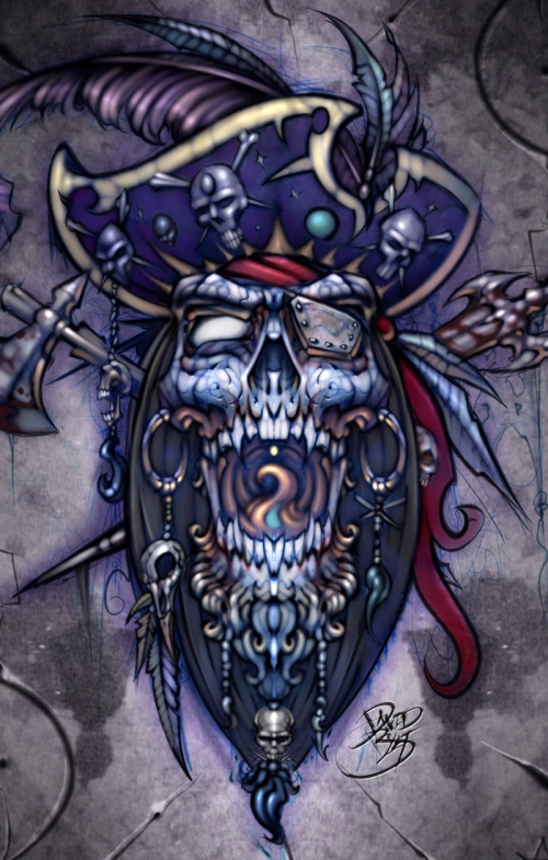 David Bollt Pirate Mind Pirate Skull