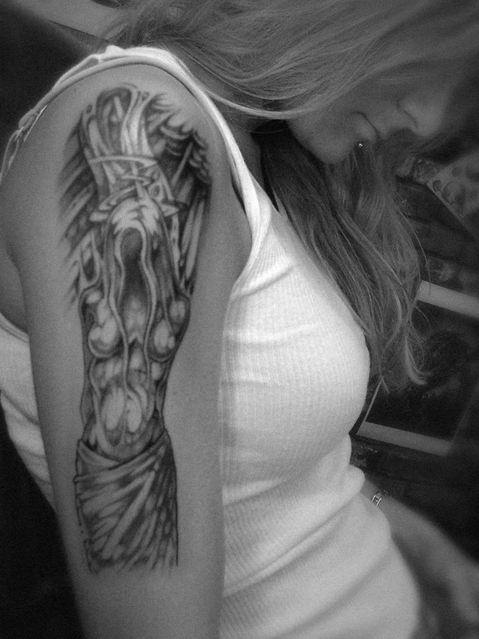 custom tattoo art by david bollt