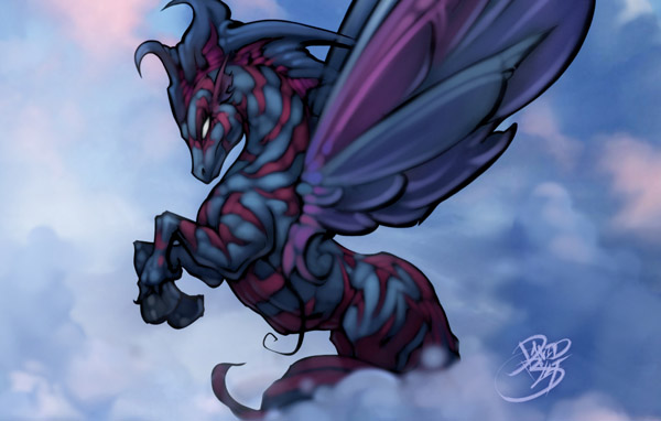Pegasus fantasy horse by David Bollt