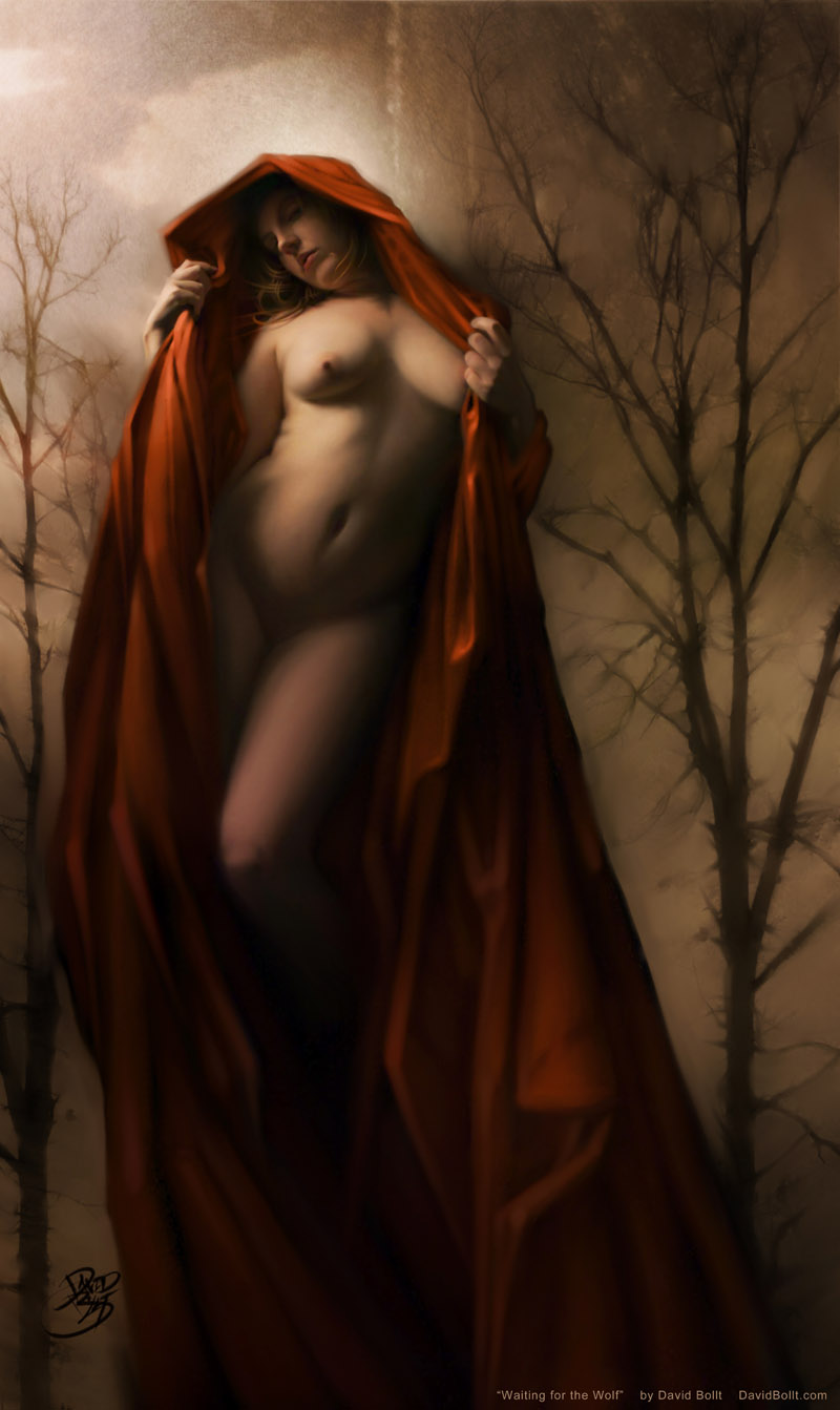 Nude Little Red Ridding Hood by David Bollt